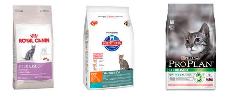 Корма Royal Canin, Hills и Pro Plan для стерилизованных кошек
