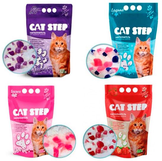 CAT STEP силикагелевые наполнители для кошачьего туалета