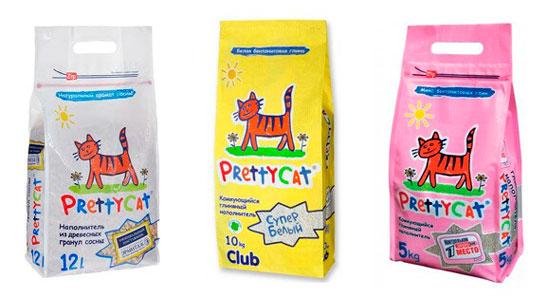 PRETTY CAT наполнитель для кошачьего туалета