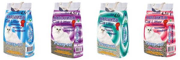 PUSSY CAT кошачий наполнитель для туалета