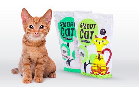силикагелевый наполнитель Smart Cat